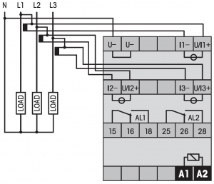 Wie schliesse ich einen Stromwandler an MRx Geräten an?