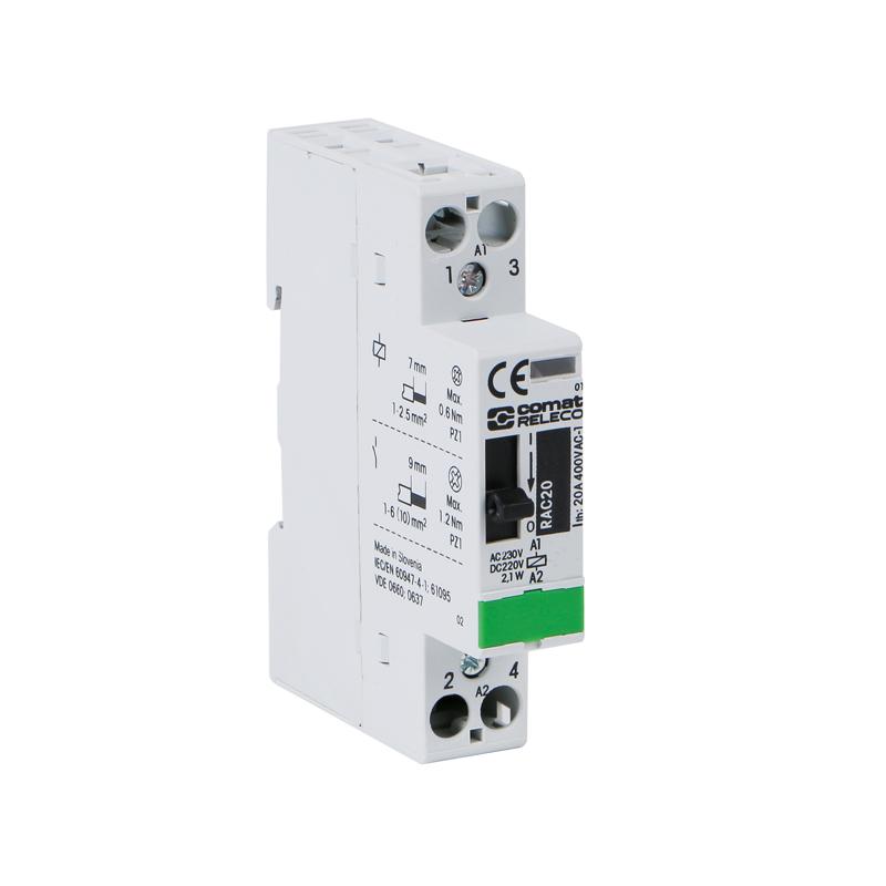 Installation contactors RAC