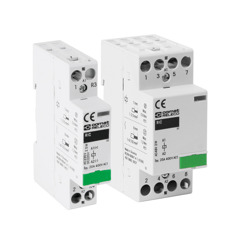 Installation contactors RIC for railway applications